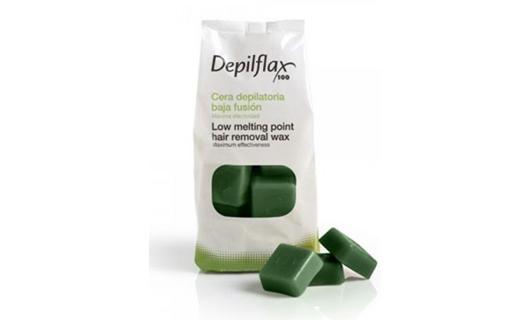 Depilflax Зеленый. Горячий воск 1 кг по специальной цене